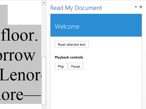 Microsoft Add In Read My Document