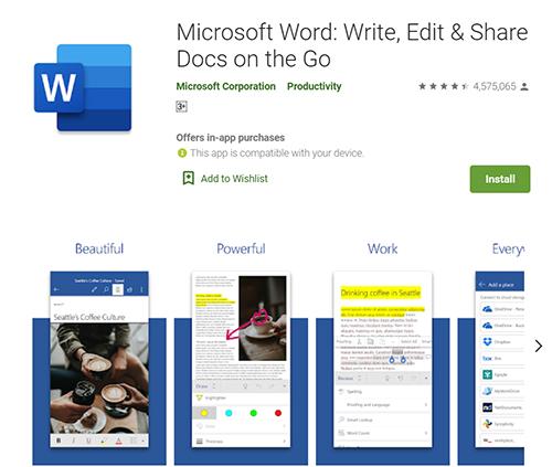 Microsoft Word Free Mobile