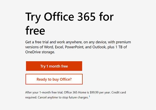 Microsoft Word Free Trial