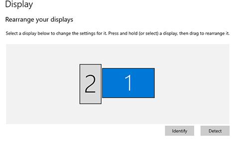 Setup Dual Monitors Windows Display