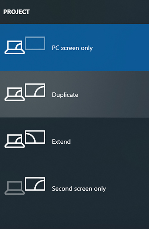 Setup Dual Monitors Windows Shortcut