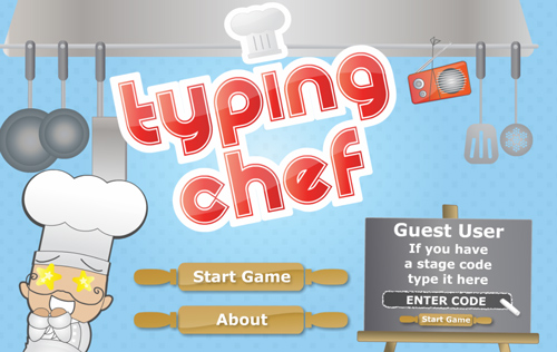 typing chef typing game