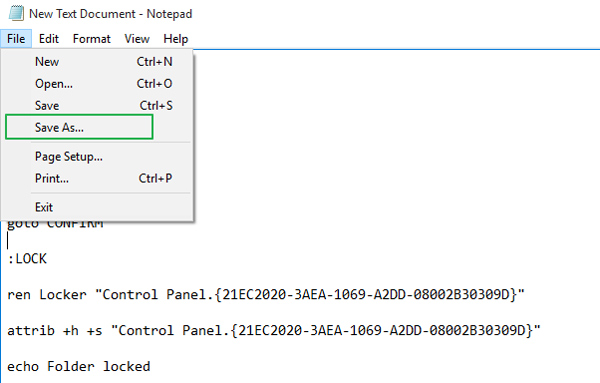 create-secured-locked-folder-windows-10-save-as
