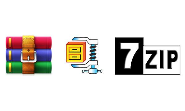 password-protect-zip-file-winzip-winrar-7zip-logo