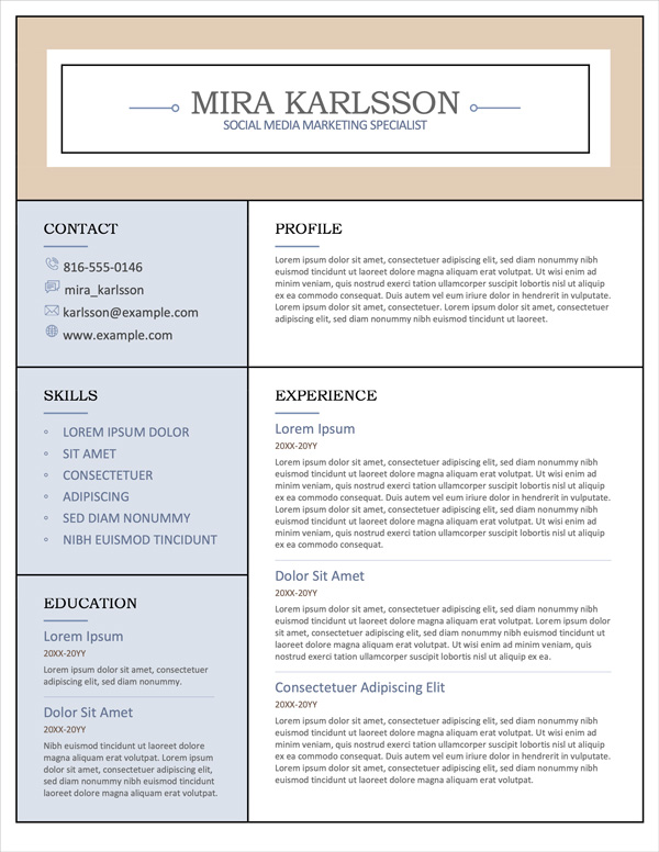 free-resume-templates-microsoft-word-openoffice-libreoffice-fig-16-columns