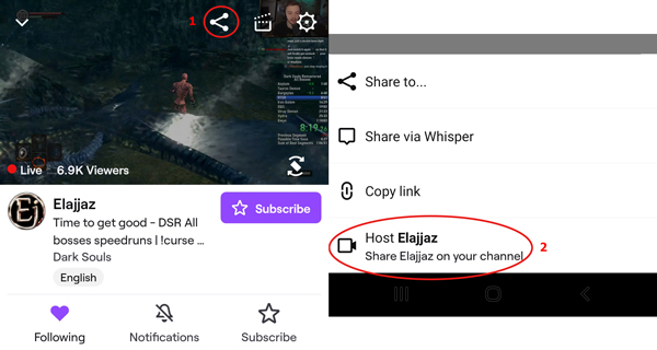 how-to-host-twitch-host-using-mobile