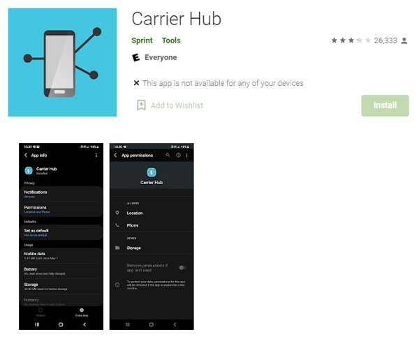 carrier hub app everything need to know playstore