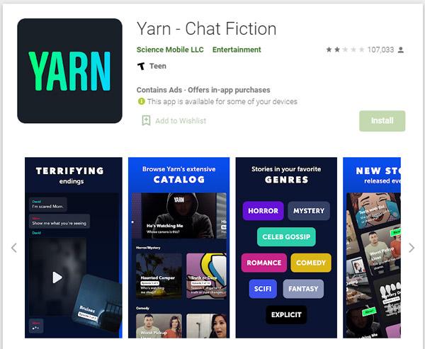 what is yarn app playstore