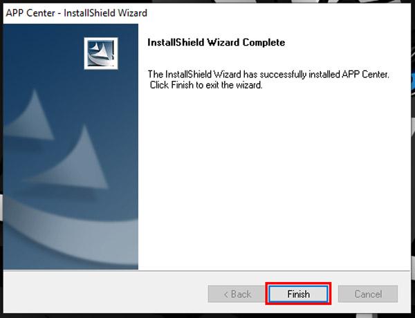 guide to install use gigabyte app center finish step