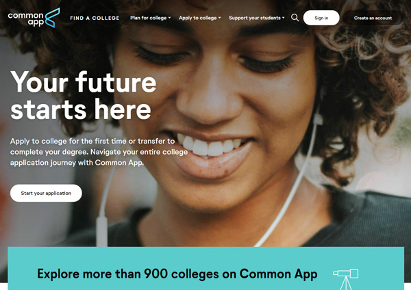 how to find good college common app website