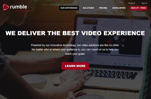 rumble make videos get paid rumble media player